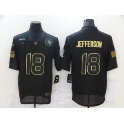 Nike Minnesota Vikings 18 Justin Jefferson Black 2020 Salute To Service Limited Jersey