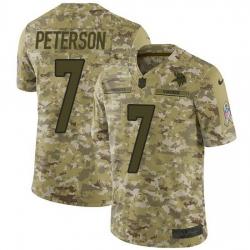 Nike Minnesota Vikings 7 Patrick Peterson Camo Men Stitched NFL Limited 2018 Salute To Service Jersey