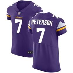 Nike Minnesota Vikings 7 Patrick Peterson Purple Team Color Men Stitched NFL Vapor Untouchable Elite Jersey