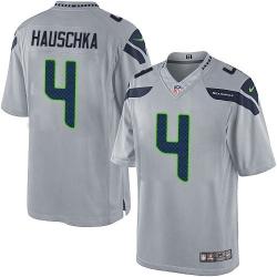 Men Nike NFL Steven Hauschka Seattle Seahawks 4 Gray Vapor Limited Jersey