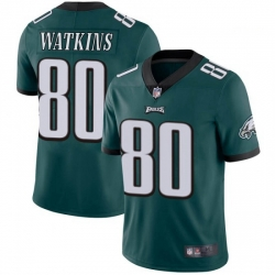 Men Nike Philadelphia Eagles Quez Watkins #80 Green Vapor Limited Jersey