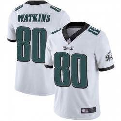 Men Nike Philadelphia Eagles Quez Watkins #80 White Vapor Limited Jersey