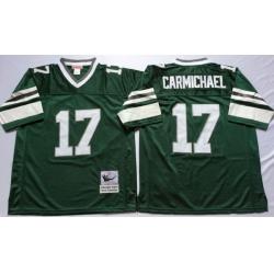 Men Philadelphia Eagles 17 Harold Carmichael Green M&N Throwback Jersey