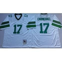 Men Philadelphia Eagles 17 Harold Carmichael White M&N Throwback Jersey