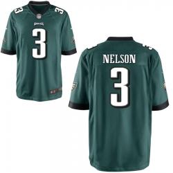 Men Philadelphia Eagles 3 Steven nelson Green Limited jersey