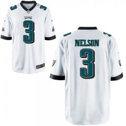 Men Philadelphia Eagles 3 Steven nelson White Limited jersey