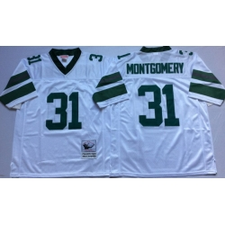 Men Philadelphia Eagles 31 Wilbert Montgomery White M&N Throwback Jersey
