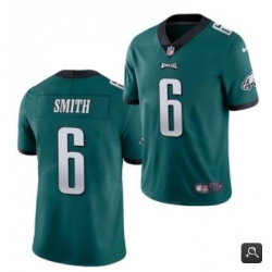 Men Philadelphia Eagles #6 DeVonta Smith 2021 NFL Draft Green Vapor Untouchable Limited Stitched Jersey