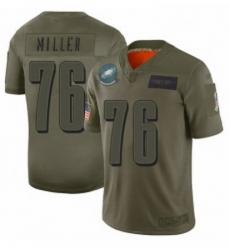 Men Philadelphia Eagles 76 Shareef Miller Limited Camo 2019 Salute to Service Football Jersey