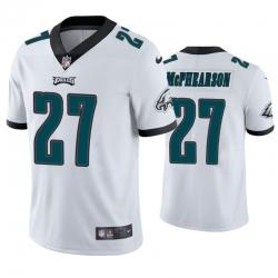 Men Philadelphia Eagles Zech McPhearson 27 Vapor Limited Jersey White