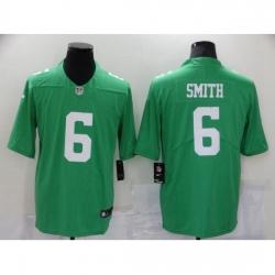 Men's Philadelphia Eagles #6 DeVonta Smith Midnight Green Draft First Round Pick Limited Jersey