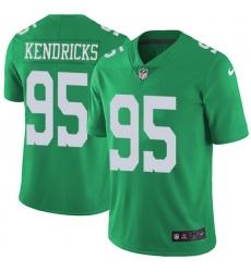 Nike Eagles #95 Mychal Kendricks Green Mens Stitched NFL Limited Rush Jersey