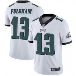 Nike Philadelphia Eagles 13 Travis Fulgham White Vapor Untouchable Limited Jersey