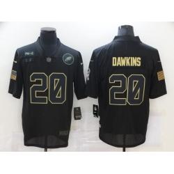 Nike Philadelphia Eagles 20 Brian Dawkins Black 2020 Salute To Service Limited Jersey