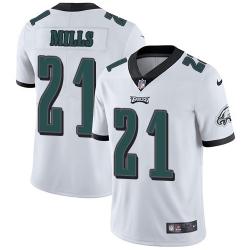 Nike Philadelphia Eagles 21 Jalen Mills White Men Stitched NFL Vapor Untouchable Limited Jersey