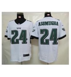 Nike Philadelphia Eagles 24 Nnamdi Asomugha white Elite NFL Jersey