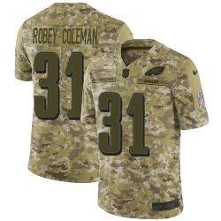 Nike Philadelphia Eagles 31 Nickell Robey Coleman Camo Men Stitched NFL Limited 2018 Salute To Service Jersey