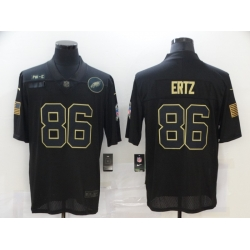 Nike Philadelphia Eagles 86 Zach Ertz Black 2020 Salute To Service Limited Jersey