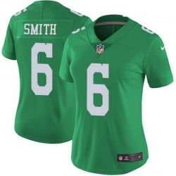 Nike Philadelphia Eagles 6 DeVonta Smith Green Women Stitched NFL Limited Rush Jersey