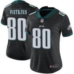 Women Nike Philadelphia Eagles Quez Watkins #80 Black Vapor Limited Jersey
