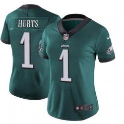 Women Philadelphia Eagles Jalen Hurts 1 Limited Green Vapor Untouchable NFL Jersey