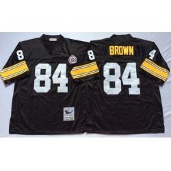 Men Pittsburgh Steelers 84 Antonio Brown Black M&N Throwback Jersey
