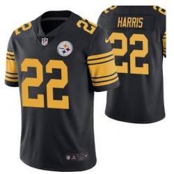 Men Pittsburgh Steelres Najee Harris 22 Black Rush Limited Jersey