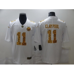 Nike Pittsburgh Steelers 11 Chase Claypool White Leopard Vapor Untouchable Limited Jersey