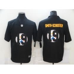 Nike Pittsburgh Steelers 19 JuJu Smith Schuster Black Shadow Logo Limited Jersey