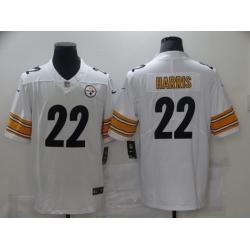 Nike Pittsburgh Steelers 22 Najee Harris White 2021 NFL Draft Vapor Untouchable Limited Jersey