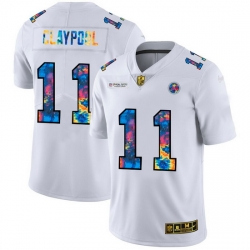 Pittsburgh Steelers 11 Chase Claypool Men White Nike Multi Color 2020 NFL Crucial Catch Limited NFL Jersey