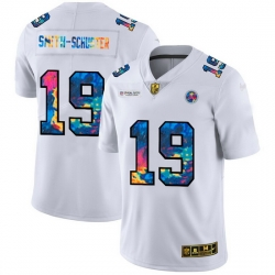 Pittsburgh Steelers 19 JuJu Smith Schuster Men White Nike Multi Color 2020 NFL Crucial Catch Limited NFL Jersey