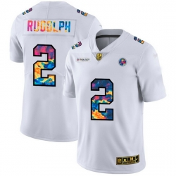 Pittsburgh Steelers 2 Mason Rudolph Men White Nike Multi Color 2020 NFL Crucial Catch Limited NFL Jersey