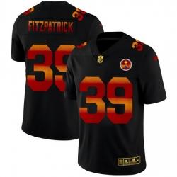 Pittsburgh Steelers 39 Minkah Fitzpatrick Men Black Nike Red Orange Stripe Vapor Limited NFL Jersey
