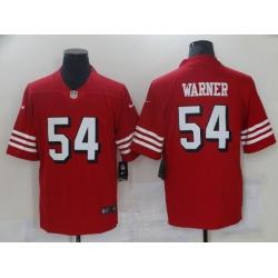 Men San Francisco 49ers 54 Warner Red Nike Vapor Untouchable Limited 2021 NFL Jersey