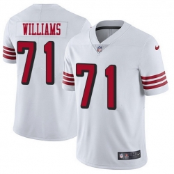 Men San Francisco 49ers 71 Trent Williams White Rush Men Stitched NFL Vapor Untouchable Limited Jersey