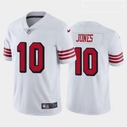 Men San Francisco 49ers Mac Jones Color Rush White 2021 Draft Jersey