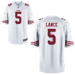 Men San Francisco 49ers Trey Lance White Vapor Limited Jersey