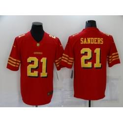 Men's San Francisco 49ers #21 Deion Sanders Red Gold Untouchable Limited Jersey