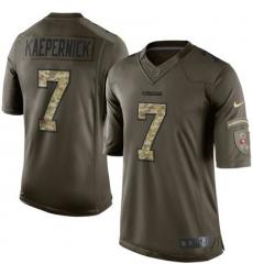 Mens San Francisco 49ers 7 Colin Kaepernick Nike Green Salute To Service Limited Jersey