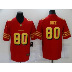 Men's San Francisco 49ers #80 Jerry Rice Red Gold Untouchable Limited Jersey