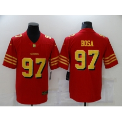 Men's San Francisco 49ers #97 Nick Bosa Red Gold Untouchable Limited Jersey