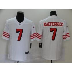 Men's San Francisco 49ers Colin Kaepernick 7 White Nike Scarlet Player Limited Jersey