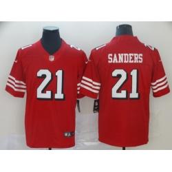 Men's San Francisco 49ers Deion Sanders 21 Red Nike Scarlet Player Limited Jersey