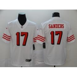 Men's San Francisco 49ers Emmanuel Sanders 17 White Nike Scarlet Player Limited Jersey