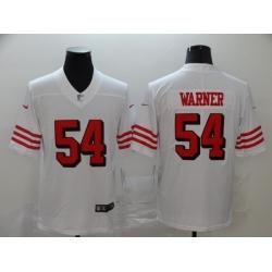 Men's San Francisco 49ers Fred Warner 54 White Nike Scarlet Player Limited Jersey