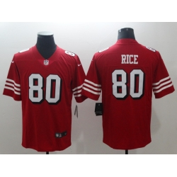 Men's San Francisco 49ers Jerry Rice 80 Red Nike Scarlet Player Limited Jersey