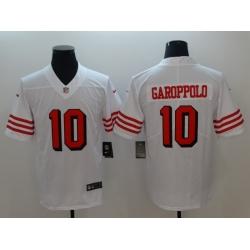 Men's San Francisco 49ers Jimmy Garoppolo 10 White Nike Scarlet Player Limited Jersey