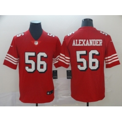 Men's San Francisco 49ers Kwon Alexander 56 Red Nike Scarlet Player Limited Jersey