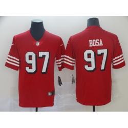 Men's San Francisco 49ers Nick Bosa 97 Red Nike Scarlet Player Limited Jersey